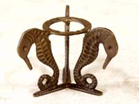 Sphere Holder Sea Horse-Bronze