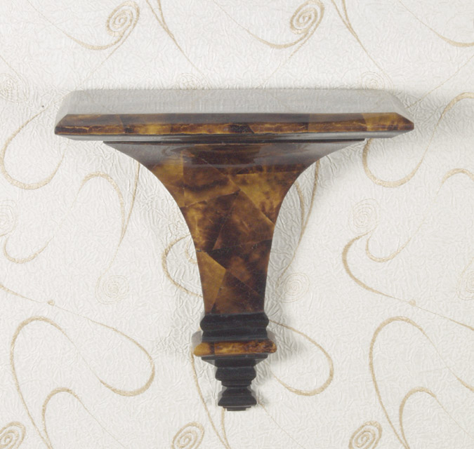 X-Large Byzantine Wall Bracket and Corbel Crack. Young Pen Seashell with Crack Black Pen Seashell