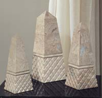 Diamond Obelisk Box, Small, Cantor Stone
