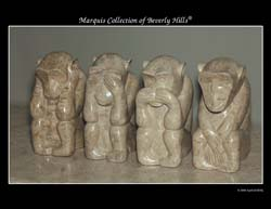 Monkey Business Sculpture, Cantor Stone (Set of 4)