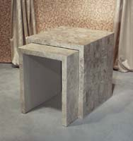 Medium Nesting Table, Cantor Stone