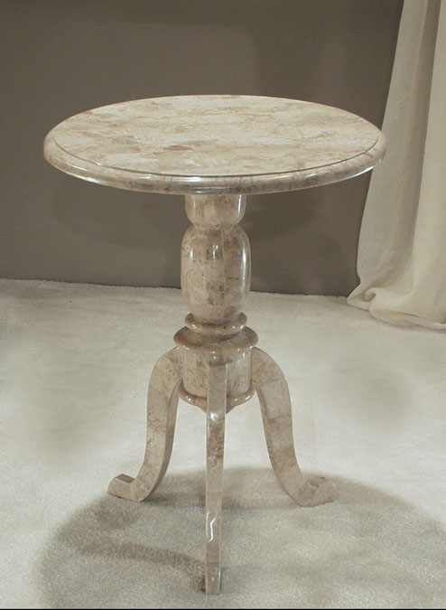 Bistro Side Table, 100% Natural Inlaid Cantor Stone
