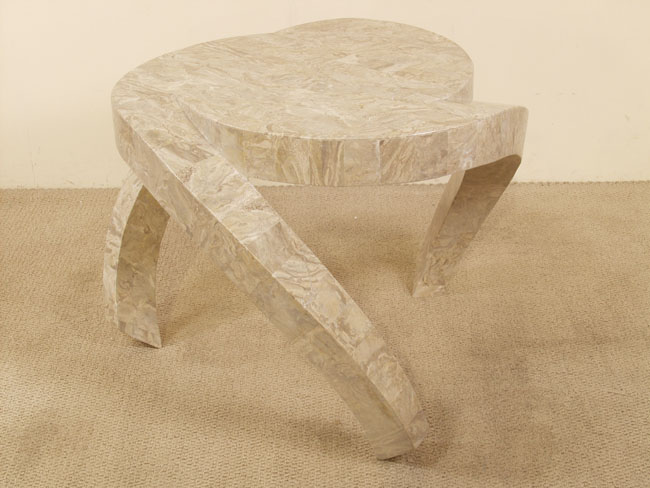 Hurricane Side Table, Cantor Stone