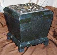 Brian Box, 100% Natural Inlaid Black Stone with Snakeskin Stone Inlay