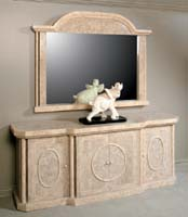 Imperial Buffet, Cantor Stone with Beige Fossil Stone