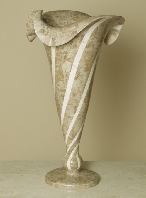 Versailles Vase, Cantor Stone with White Ivory Stone