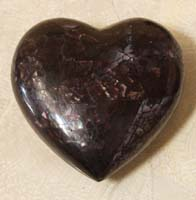 Heart Sculpture, Cracked Violet Oyster Seashell Finish