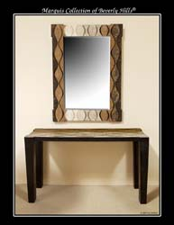 Curves Mirror Frame, Black Stone/Light & Dark Snakeskin Stone/Light & Dark Woodstone/Light & Dark Cantor Stone/Crystal Woodstone/Beige Fossil Stone/Lt Grey Agate Stone/White Ivory Stone/Grey Stone Finish