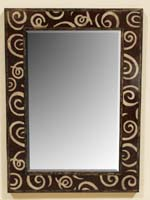 Curls Mirror Frame, Coco Roots/Cantor Stone/Corn Stalk Finish
