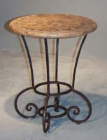 Julian Side Table, Snakeskin Stone