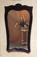 Queen Ann Mirror Frame , Black Stone-mirror included