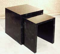 Medium Nesting Table, Black Stone