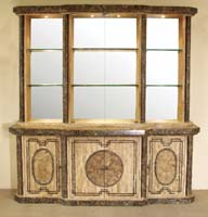 Imperial Buffet (Sold with Imperial China Hutch), Woodstone with Snakeskin Stone - 1 of 2 (Set of 2)