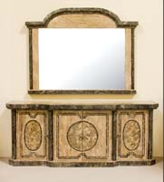 Imperial Mirror Frame, Woodstone with Snakeskin Stone (Mirror Included)