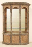 Venezia China Hutch - TOP& BASE, Woodstone with Snakeskin Stone
