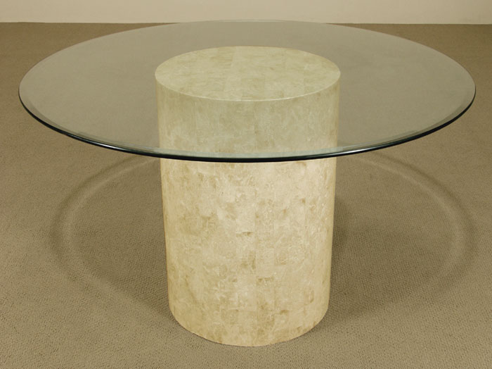 Round Dining Table Base, Beige Fossil, Smooth