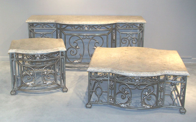 Royal Rect Lamp Table Aged Mactan Stone (formerly #ll-003L)