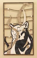 Panther Wall Art, White Agate Stone/Black Stone/Cantor Stone/White Ivory Stone