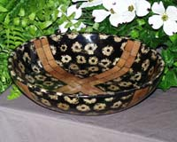 Corn Bowl, Inlaid Corn Cob Slice