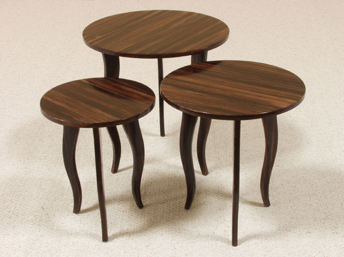 Diore Nesting Table, Medium, Dark Banana Bark Finish
