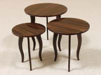 Diore Nesting Table, Small, Dark Banana Bark Finish