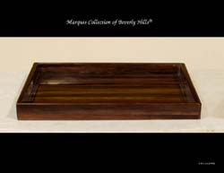 Fusion Rectangular Serving Tray, Dark Banana Bark