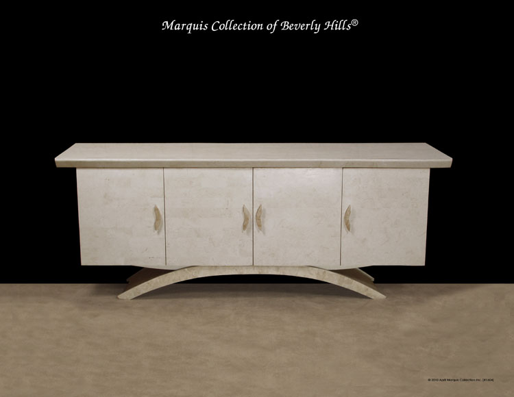 Circo Buffet, White Ivory Stone with Beige Fossil Stone