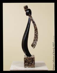 Harmony Sculpture - Table Model, Black Stone with Snakeskin Stone