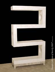 S-Etagere, White Ivory Stone with Cantor Stone