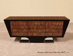Vogue Buffet, 100% Natural Inlaid Cotton Husk, Black Stone & Stainless Steel